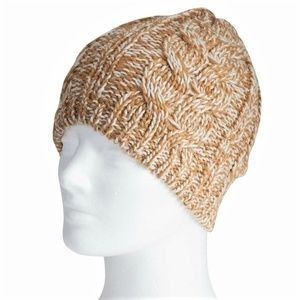 Bearpaw Marled Cable Knit Beanie Winter Hat OS